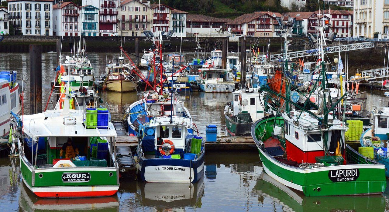 Le port de Saint Jean de Luz au Pays-Basque